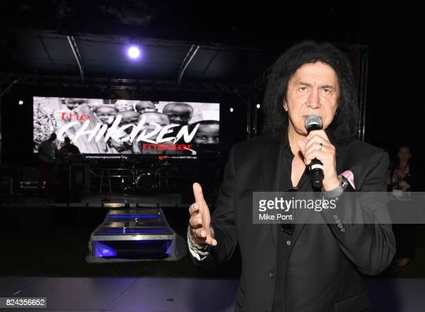 Gene Simmons speaks during 'The Children Matter' an exclusive charity event benefiting MATTER The Starkey Hearing Foundation presented by...