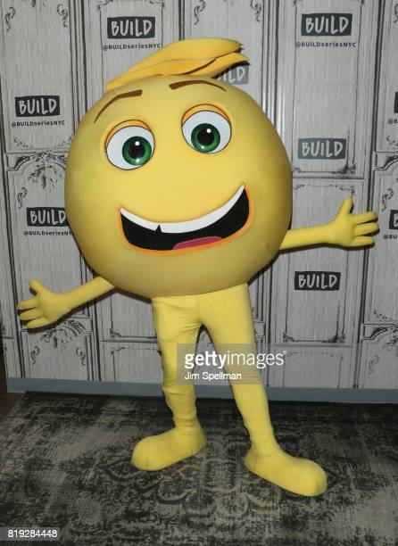 Gene the emoji attends Build to discuss their new movie 'The Emoji Movie' at Build Studio on July 19 2017 in New York City