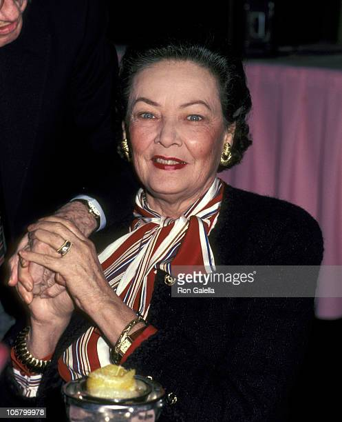 Gene Tierney during Gene Tierney at Round Table West Luncheon April 1 1983 at Ambassador Hotel in Los Angeles California United States