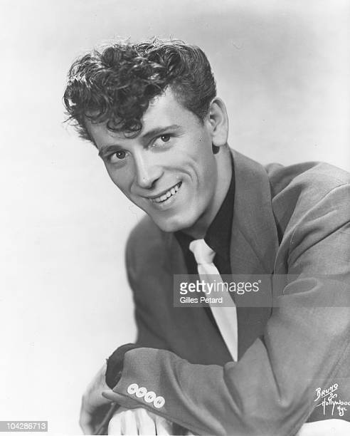 Gene Vincent poses for a studio portrait in 1956 in the United States