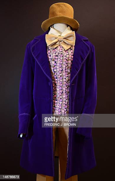 Gene Wilder's Willy Wonka signature costume from the film 'Willy Wonka and the Chocolate Factory' on display at Profiles In History in Calabasas...