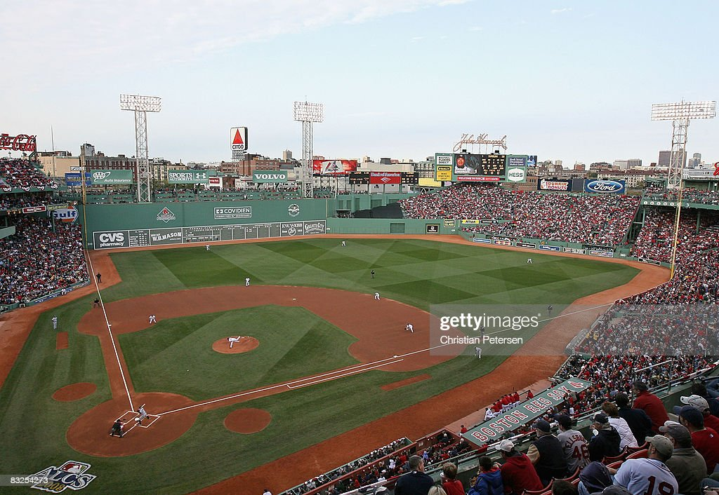 Genearl view as starting pitcher Jon Lester of the Boston Red Sox throws the first pitch of the game against Akinori Iwamura of the Tampa Bay Rays in...