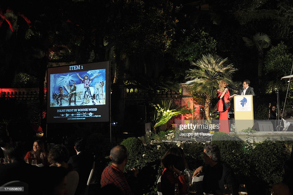Genera view of Cash & Rocket On Tour Women for Women - Gala Dinner and Auction on June 16, 2013 in Rome, Italy.