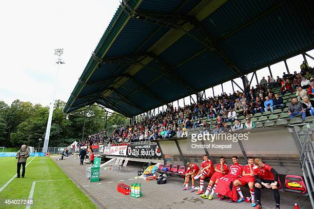 Generak view of the Sportpark Hoehenberg during the Regionalliga West match between Viktoria Koeln and SV Roedinghausen at Sportpark Hoehenberg on...
