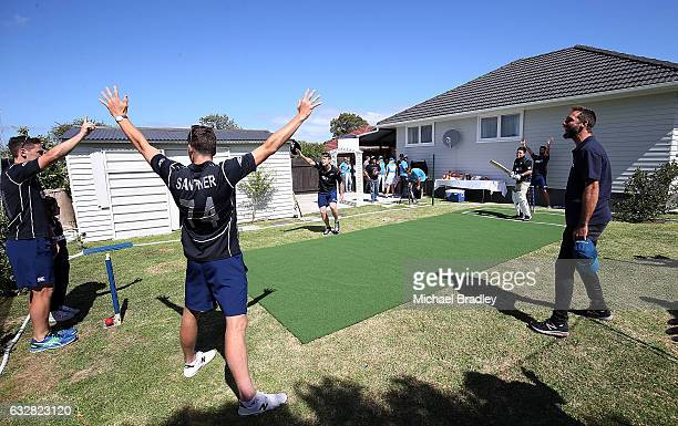 General action after cricket fan Christopher BrabantHenry aged 14 and his sister Regan aged 7 from Mangere can't believe their luck after returning...