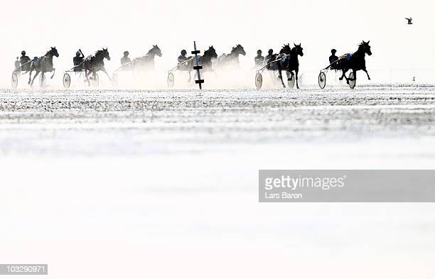 General action during race four of the Duhner Wattrennen mudflat race on August 8 2010 in Cuxhaven Germany