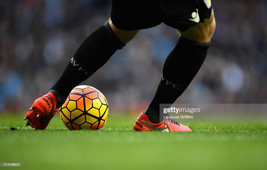 General action during the Barclays Premier League match between Manchester City and Aston Villa at Etihad Stadium on March 5 2016 in Manchester...
