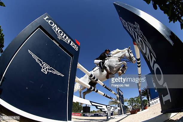 General action during the Dubai Show Jumping Championships at Duabi Equestrian Club on January 26 2017 in Dubai United Arab Emirates