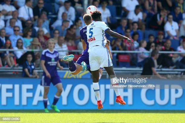 General action during the Finale for the Blue Stars/FIFA Youth Cup 2017 between Olympique Lyon and RSC Anderlecht at day two of the Blue Stars/FIFA...