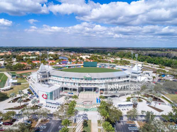 A general aerial view of Hammond Stadium on February 24 2017 at the CenturyLink Sports Complex in Fort Myers Florida