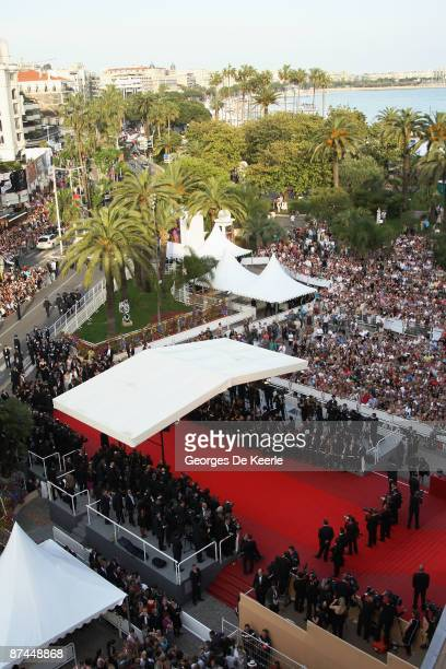 A general aerial view of the Vengeance Premiere at the Palais Des Festivals during the 62nd International Cannes Film Festival on May 17 2009 in...