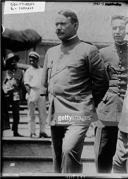 General Alvaro Obreg��n the Mexican Minister of War and Francisco R Serrano Mexico mid to late 1910s