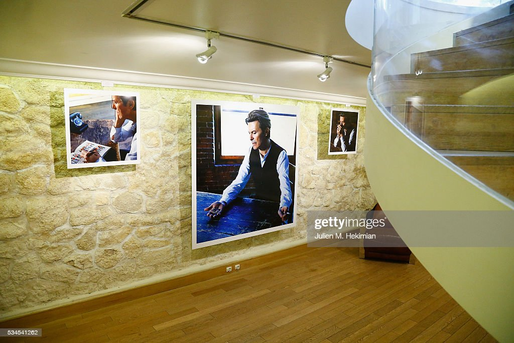 A general ambiance of atmosphere of the David Bowie Unseen By Markus Klinkoon Exhibition Opening at Artcube Galery on May 26, 2016 in Paris, France.