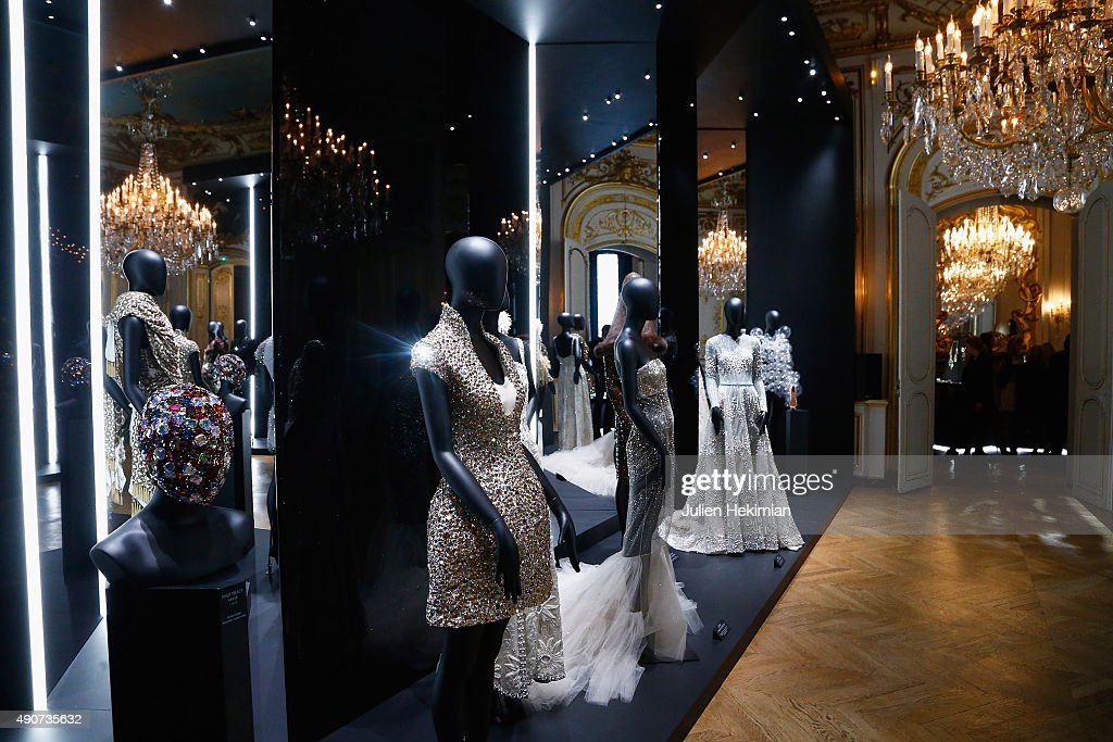 A general ambiance of atmosphere of the Swarovski 120 X Rizzoli Exhibition and Cocktail as part of the Paris Fashion Week Womenswear Spring/Summer...