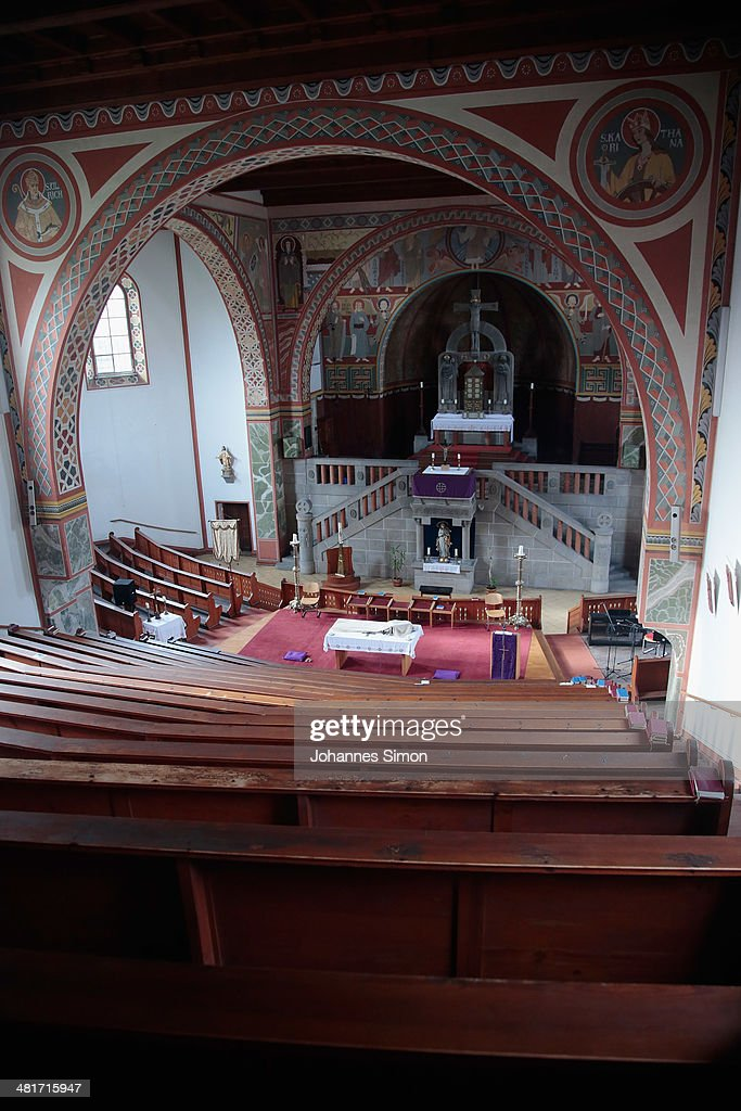 General and detail view of the prison church of the Landsberg prison where former FC Bayern Muenchen president Uli Hoeness will serve his threeyear...
