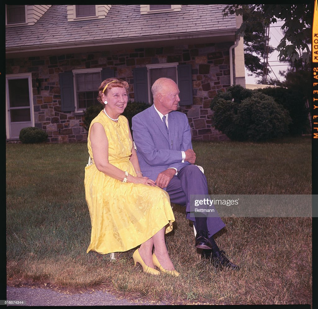 General and Mrs Dwight D Eisenhower photographed at their Gettysburg home during a recent sunny afternoon The famous couple will celebrate their...