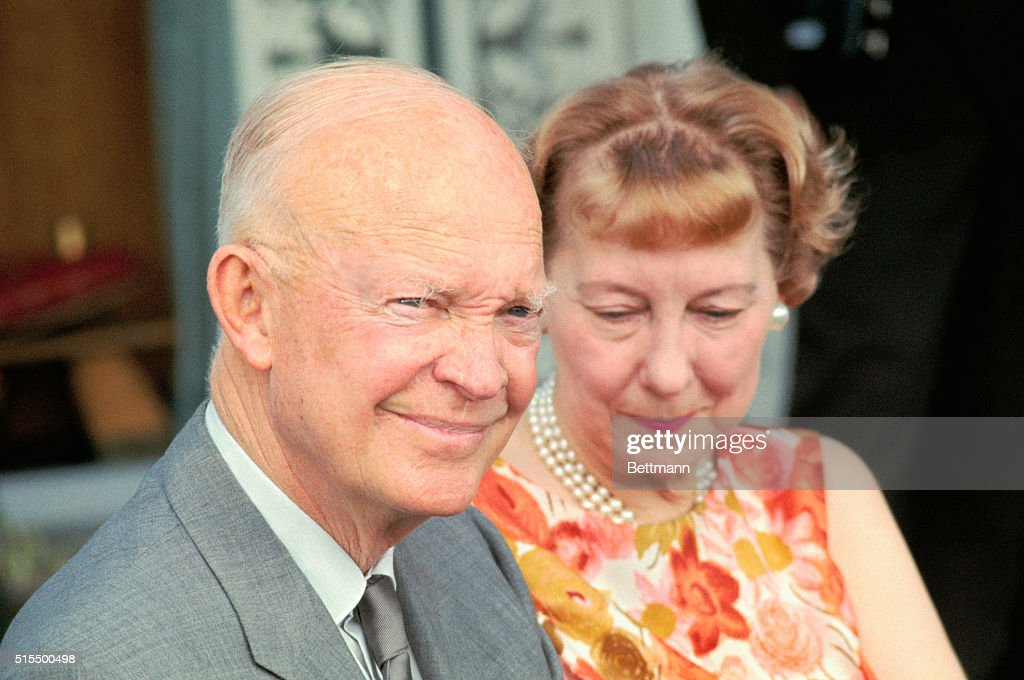 General and Mrs Dwight D Eisenhower shown at their home during an interview July 27th The famous couple will celebrate their golden wedding...