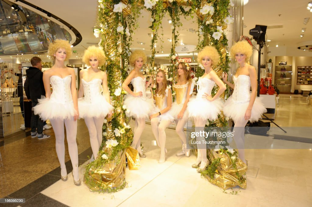 general athomsphere at Les Galeries Lafayettes Re-Open Ground Floor on November 14, 2012 in Berlin, Germany.