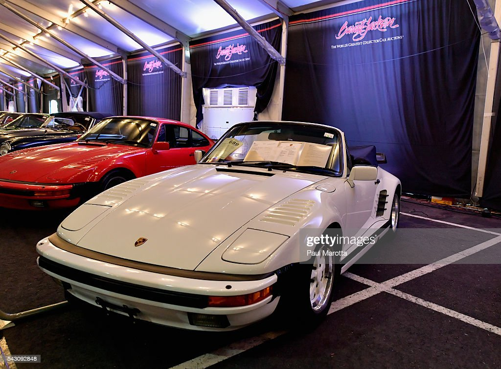 General atmoshphere at the Barrett-Jackson Inaugural Northeast Auction at Mohegan Sun Arena on June 25, 2016 in Uncasville, Connecticut. Organizers estimated app. 70,000 vistors attended the three day auction June 23-25 during which hundreds of collectors were sold at auction.