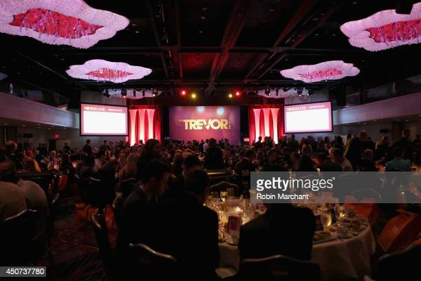 General Atmosphere as guests attend the Trevor Project's 2014 'TrevorLIVE NY' Event at the Marriott Marquis Hotel on June 16 2014 in New York City