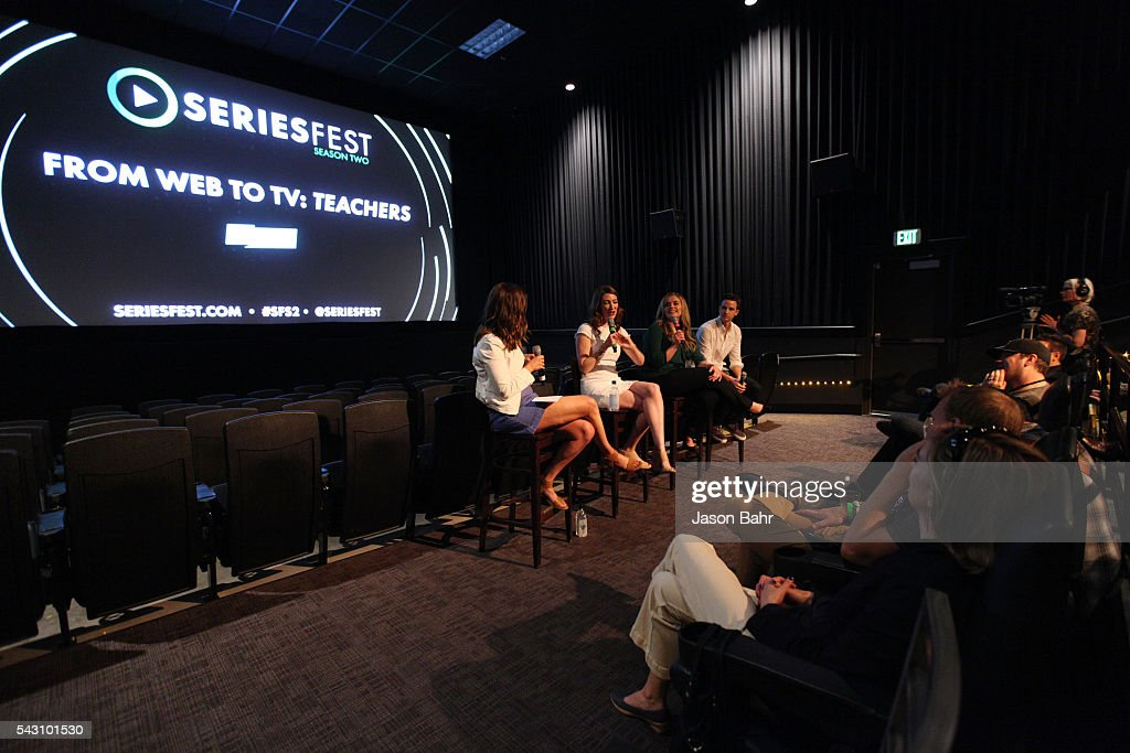 General atmosphere as (L-R) moderator Kaily Smith Westbrook, Katy Colloton, Kate Lambert, and Brad Gardner speak during the SeriesFest: Season Two 'From Web to