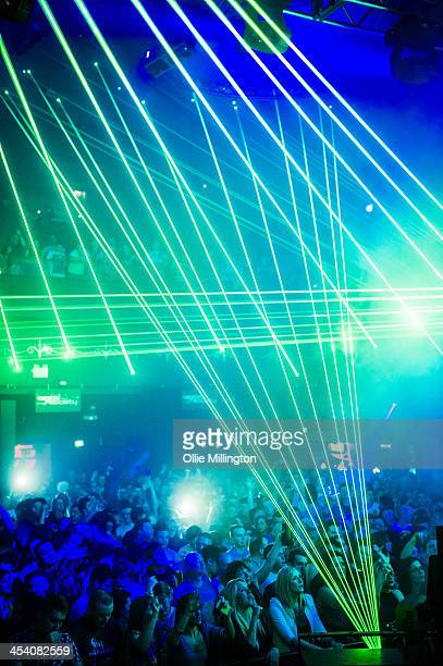 General atmosphere as Paul Van Dyk performs on stage at Leeds O2 Academy on December 6 2013 in Leeds United Kingdom