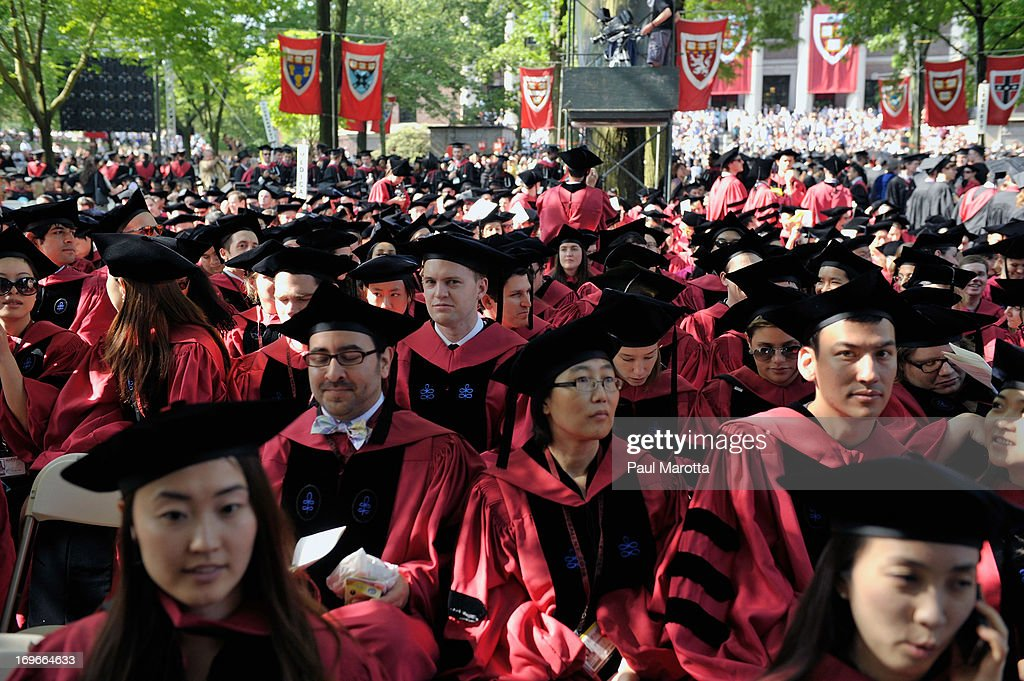 General atmosphere at 2013 Harvard University 362nd Commencement Exercises at Harvard University on May 30 2013 in Cambridge Massachusetts