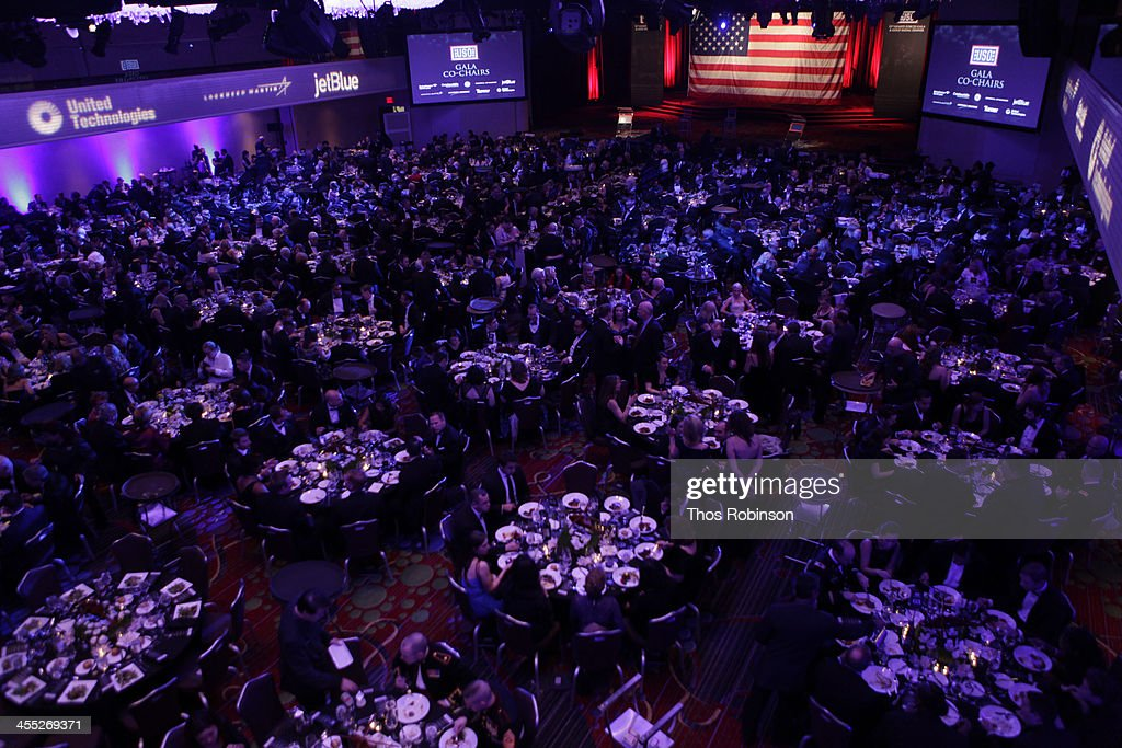 General atmosphere at 52nd USO Armed Forces Gala & Gold Medal Dinner at Marriott Marquis Times Square on December 11, 2013 in New York City.