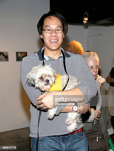 General atmosphere at a pet portrait exhibition by Getty Images staff photographer Jamie McCarthy to benefit Animal Care Control of NYC at the Empire...