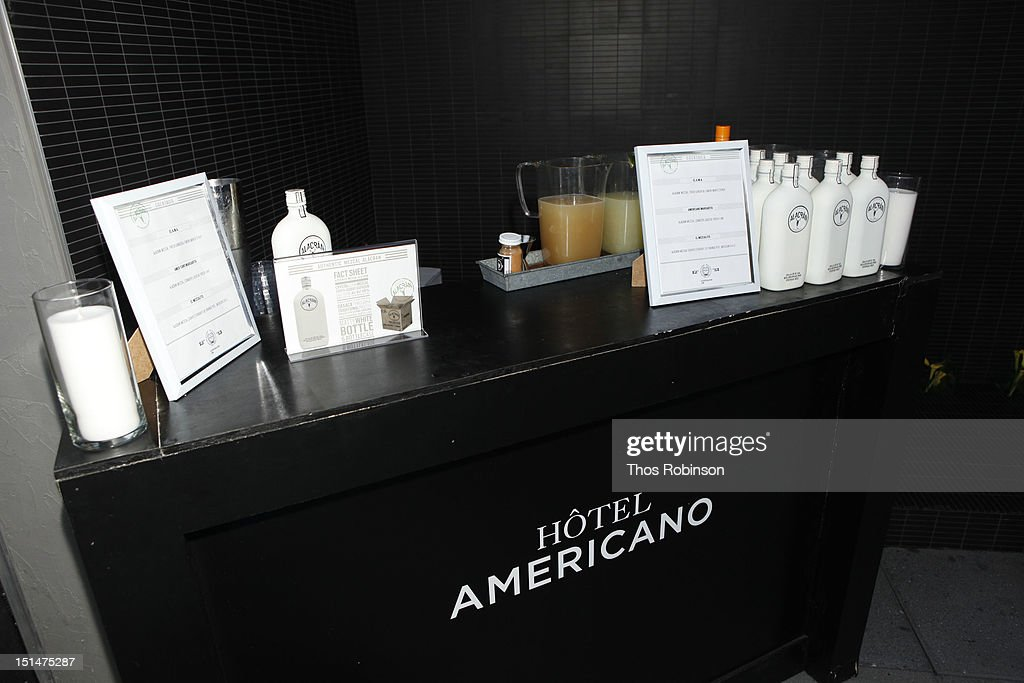 General atmosphere at Autentico Tequila Alacran Debuts Their Mezcal Alacran at Hotel Americano In NYC on September 7, 2012 in New York City.