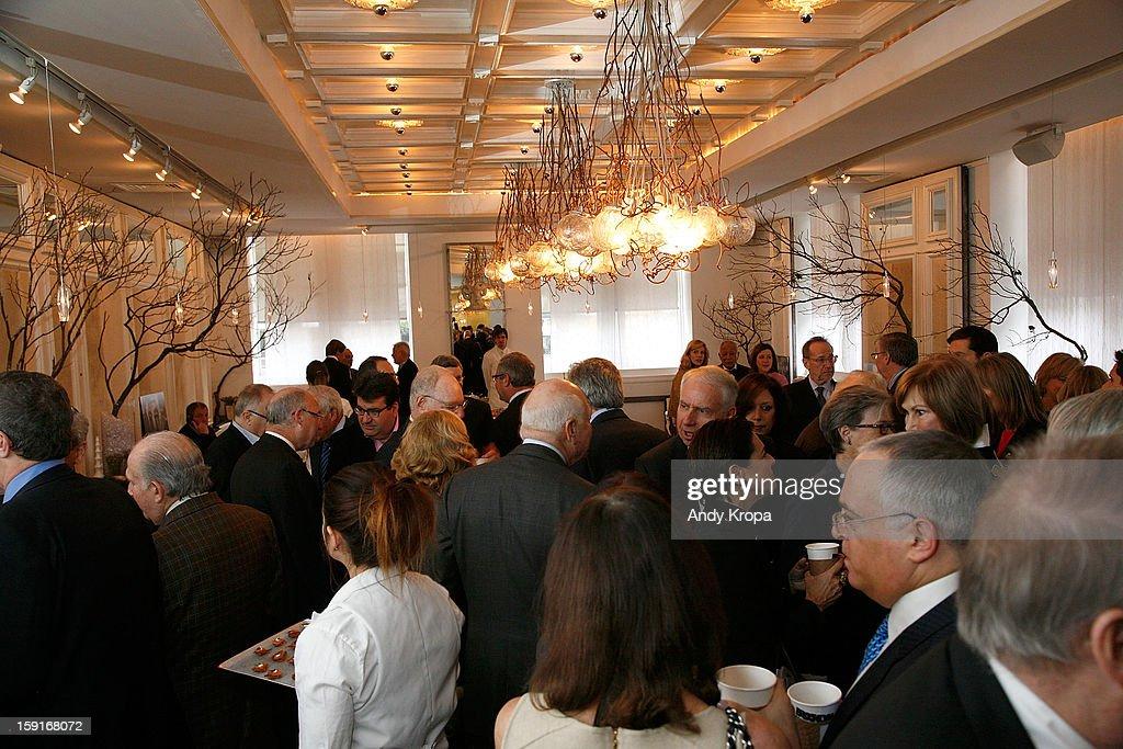 General atmosphere at Loews Regency Hotel's Inaugural Power Breakfast at Park Avenue Winter on January 9, 2013 in New York City.