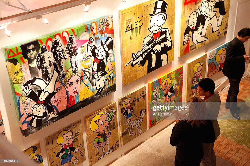 General Atmosphere at Park Place A Solo Show By Alec Monopoly at LAB ART on March 13, 2013 in Los Angeles, California.