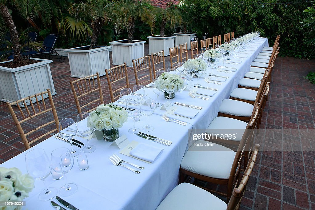 General Atmosphere at the Balmain LA Dinner at Chateau Marmont on May 2, 2013 in Los Angeles, California.