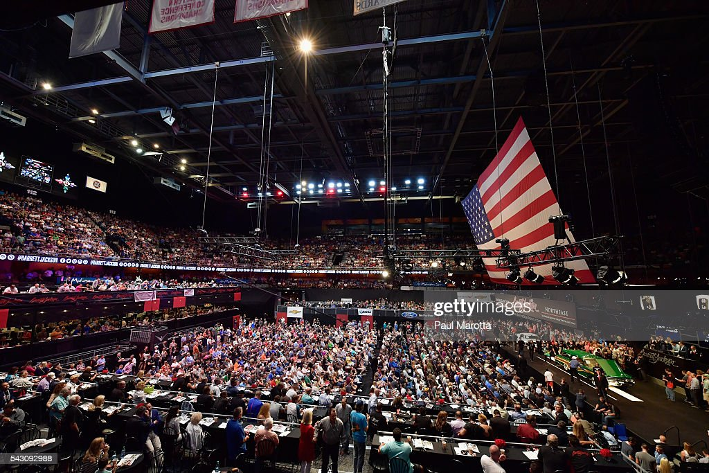 General atmosphere at the Barrett-Jackson Inaugural Northeast Auction at Mohegan Sun Arena on June 25, 2016 in Uncasville, Connecticut. Organizers estimated app. 70,000 vistors attended the three day auction June 23-25 during which hundreds of collectors were sold at auction.