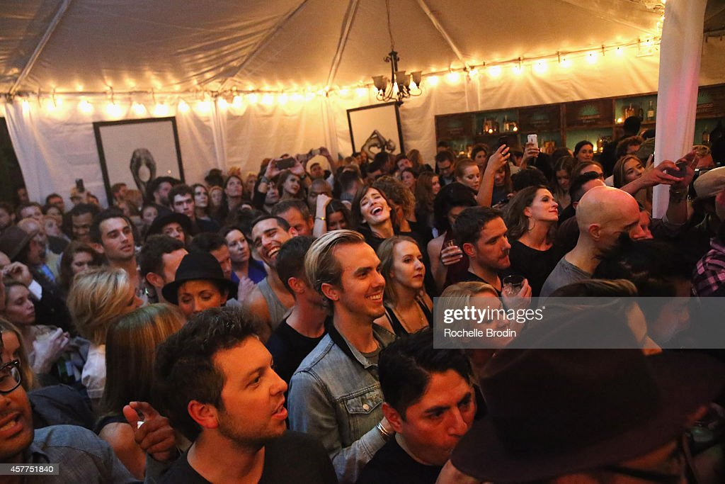 General atmosphere at the Brian Bowen Smith WILDLIFE show hosted by Casamigos Tequila at De Re Gallery on October 23 2014 in West Hollywood California