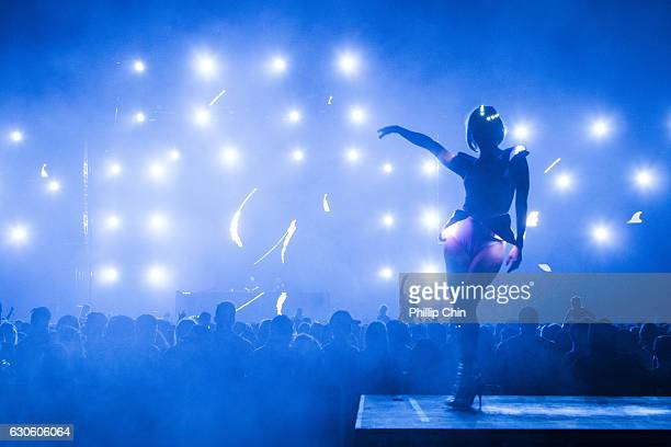 General atmosphere at the Contact Winter Music Festival at BC Place on December 27 2016 in Vancouver Canada