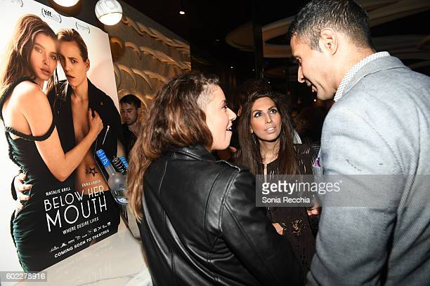 General atmosphere at the film premiere after party for Serendipity Point Films' 'Below Her Mouth' at Supper Suite by STK on September 10 2016 in...