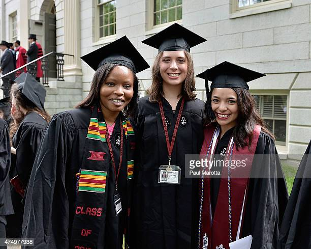 General atmosphere at the Harvard University 2015 Commencement at Harvard University on May 28 2015 in Cambridge Massachusetts