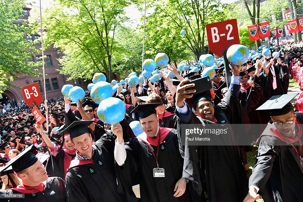 General atmosphere at the Harvard University 365th Commencement Exerices on May 26, 2016 in Cambridge, Massachusetts.