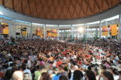 General Atmosphere at the Meeting of the Friendship among the Peoples on August 24 2009 in Rimini Italy Diplomats politicians economists scientists...
