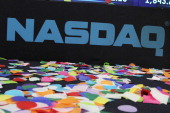 General atmosphere at the opening bell at NASDAQ MarketSite on December 31 2013 in New York City
