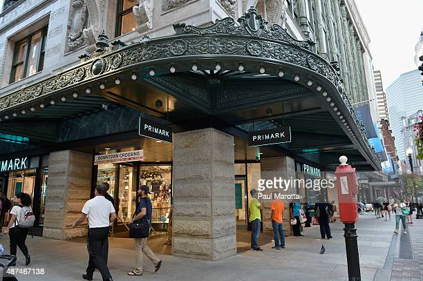 General atmosphere at the Primark US Grand Opening Store Celebration at Primark Downtown Crossing on September 9 2015 in Boston Massachusetts