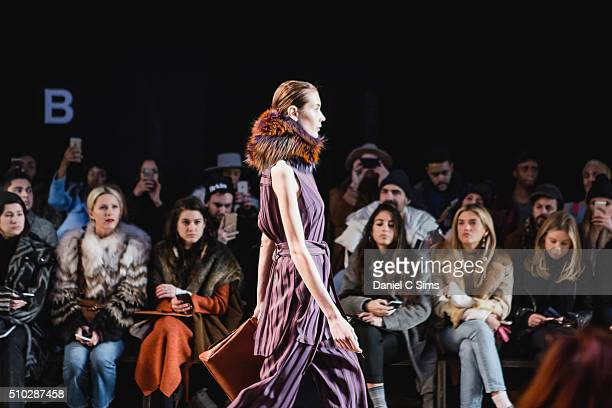 General atmosphere at the Sally LaPointe show at the Fall 2016 New York Fashion Week on February 14 2016 in New York City