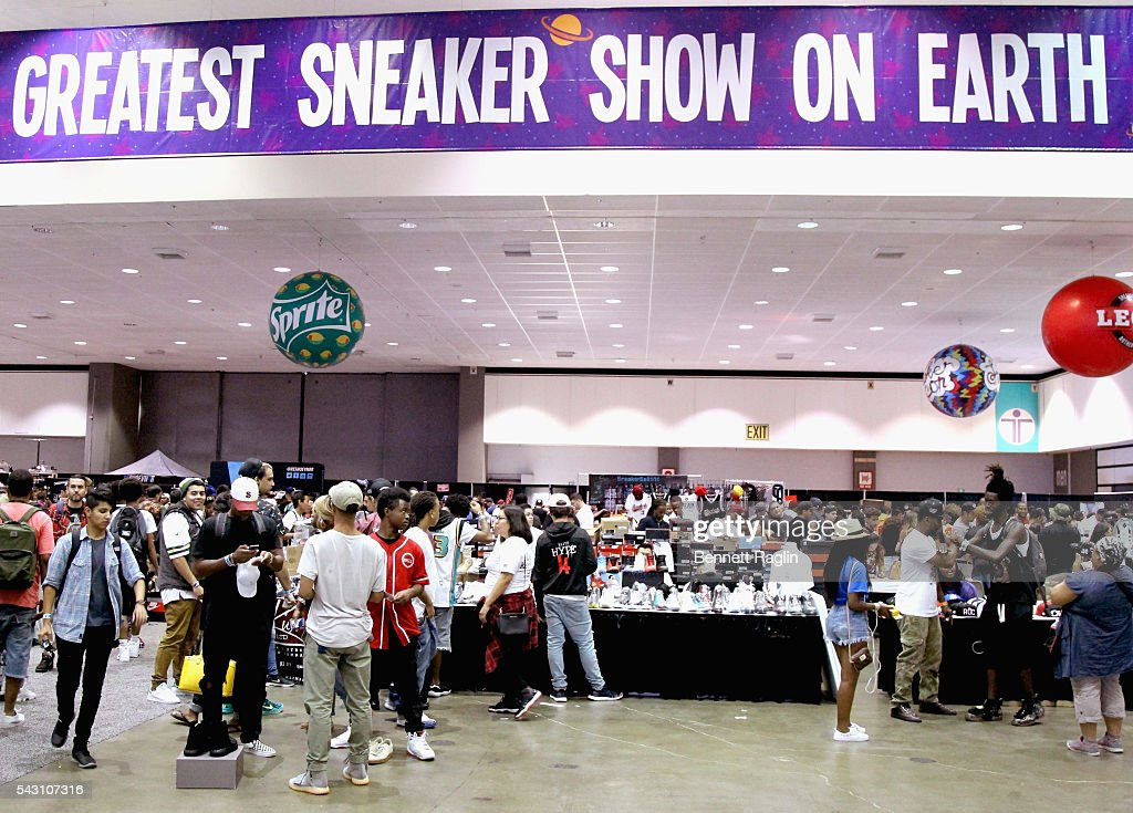 General atmosphere at the SneakerCon presented by Sprite, Rush Card, & FDA during the 2016 BET Experience at Los Angeles Convention Center on June 25, 2016 in Los Angeles, California.