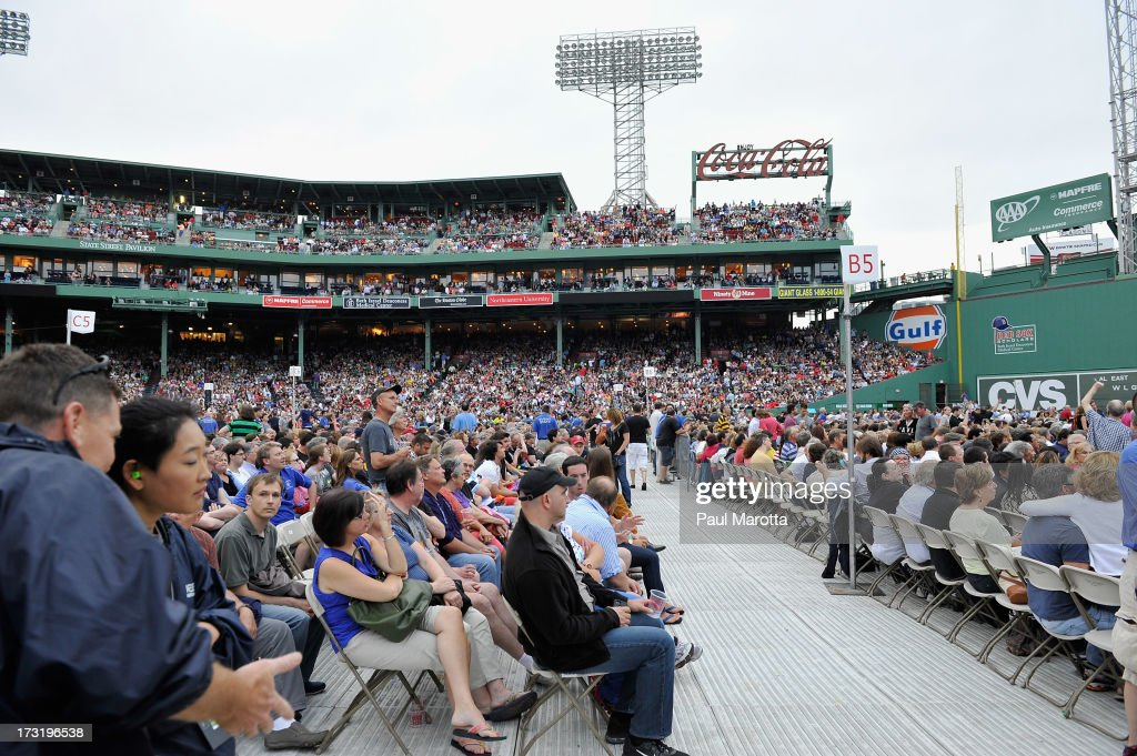 General atmosphere at the sold-out Paul McCartney concert at Fenway Park on July 9, 2013 in Boston, Massachusetts.