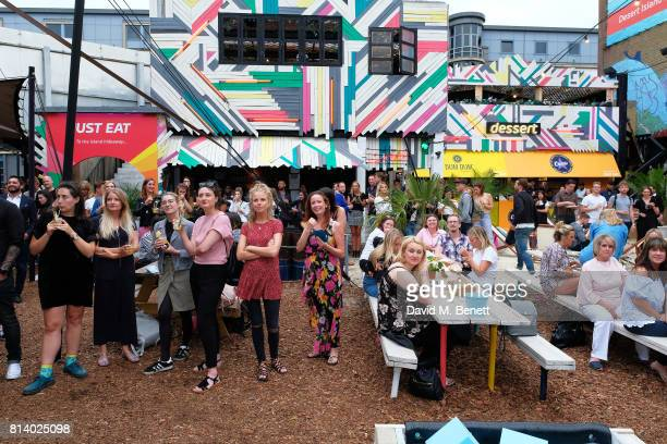 General atmosphere at the VIP launch of Just Eat Food Fest Desert Island Dishes in Red Market London The threeday desert islandinspired street food...