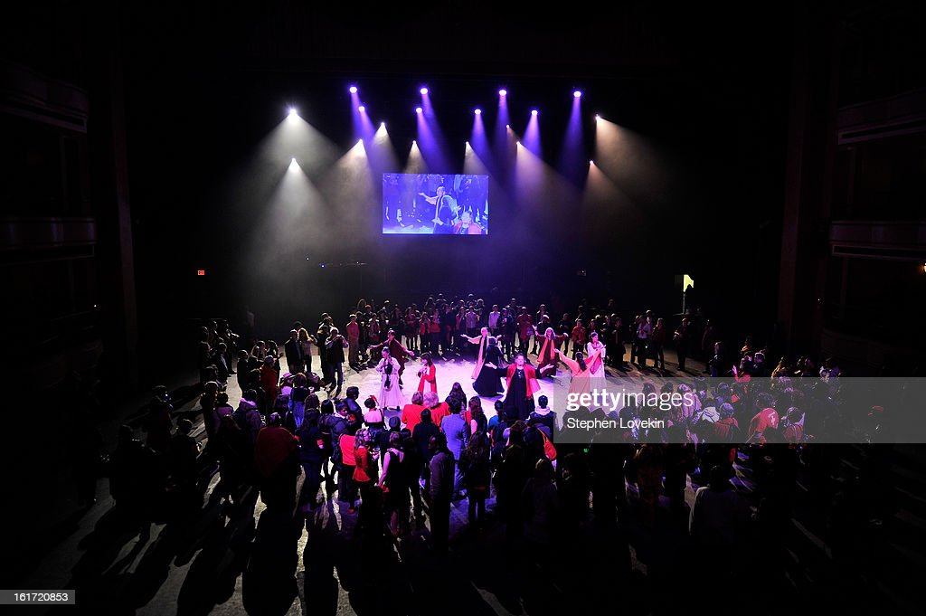 General atmosphere at V-Day And One Billion Rising's RISE NYC at Hammerstein Ballroom on February 14, 2013 in New York City.