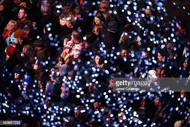 General atmosphere during 81st Annual Rockefeller Center Christmas Tree Lighting Ceremony at Rockefeller Center on December 4 2013 in New York City
