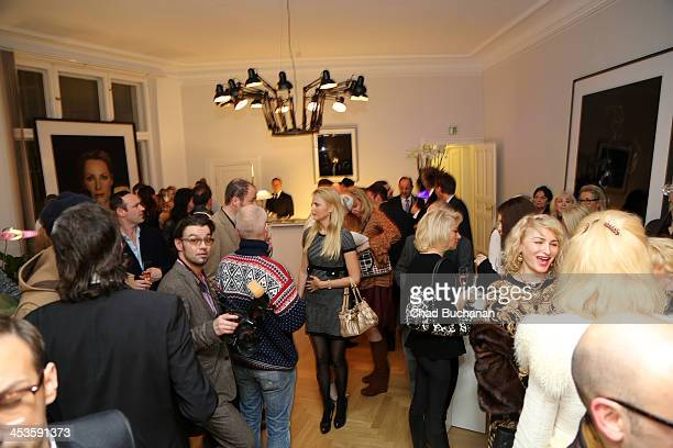 General atmosphere during a photo exhibition of Tom Lemke at the Center of Aesthetics on December 4 2013 in Berlin Germany