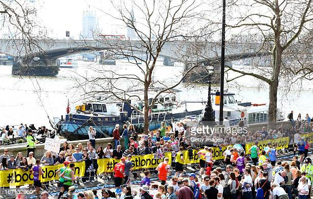General atmosphere during adidas Boost at the London Marathon on April 21 2013 in London England